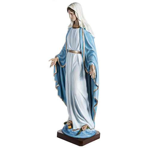 Immaculate Madonna 100cm statue in painted reconstituted marble 3
