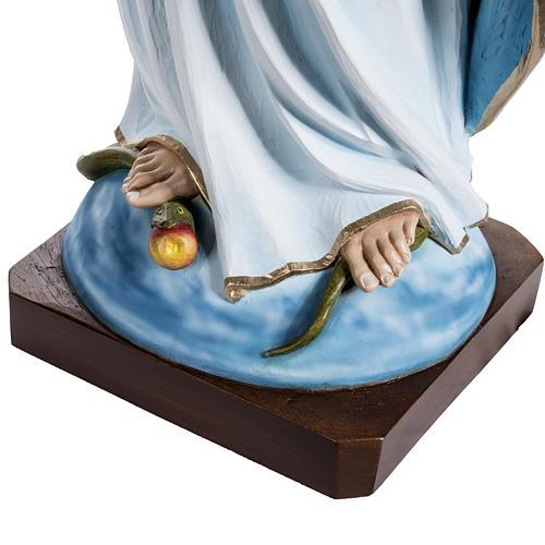 Virgen María Inmaculada 100 cm de polvo de mármol pintado 4