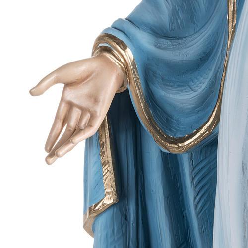 Virgen María Inmaculada 100 cm de polvo de mármol pintado 5