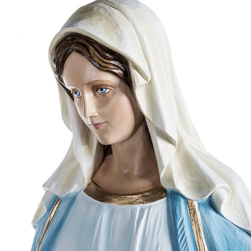 Virgen María Inmaculada 100 cm de polvo de mármol pintado 6