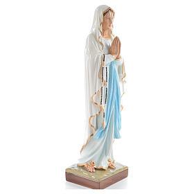 Madonna di Lourdes 60 cm polvere di marmo dipinto s4