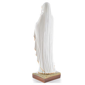 Our Lady of Lourdes, 60cm statue in painted reconstituted marble s3