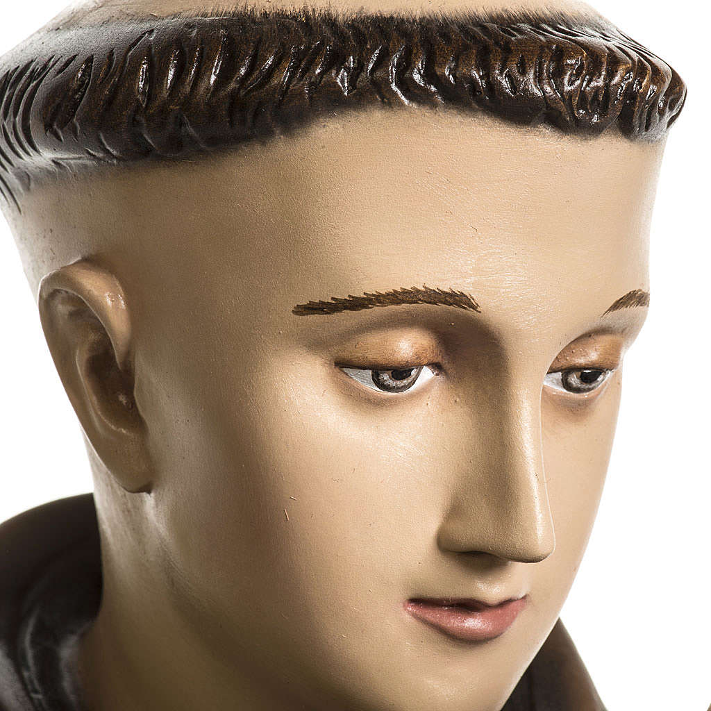 Saint Anthony of Padua 100cm statue in painted reconstituted mar 4