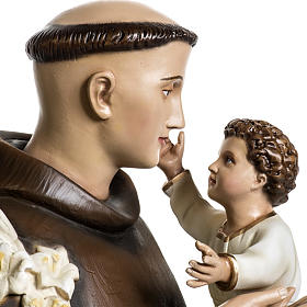 Saint Anthony of Padua 100cm statue in painted reconstituted mar s4