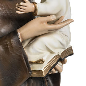 Saint Anthony of Padua 100cm statue in painted reconstituted mar s6