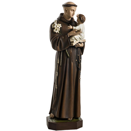 Saint Anthony of Padua 100cm statue in painted reconstituted mar 1