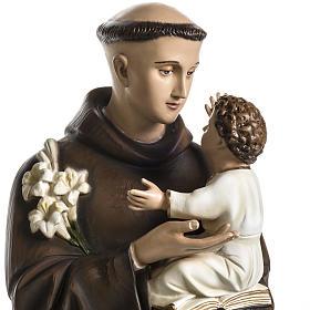 Imagen de San Antonio de Padua de polvo de mármol pintado 100 cm