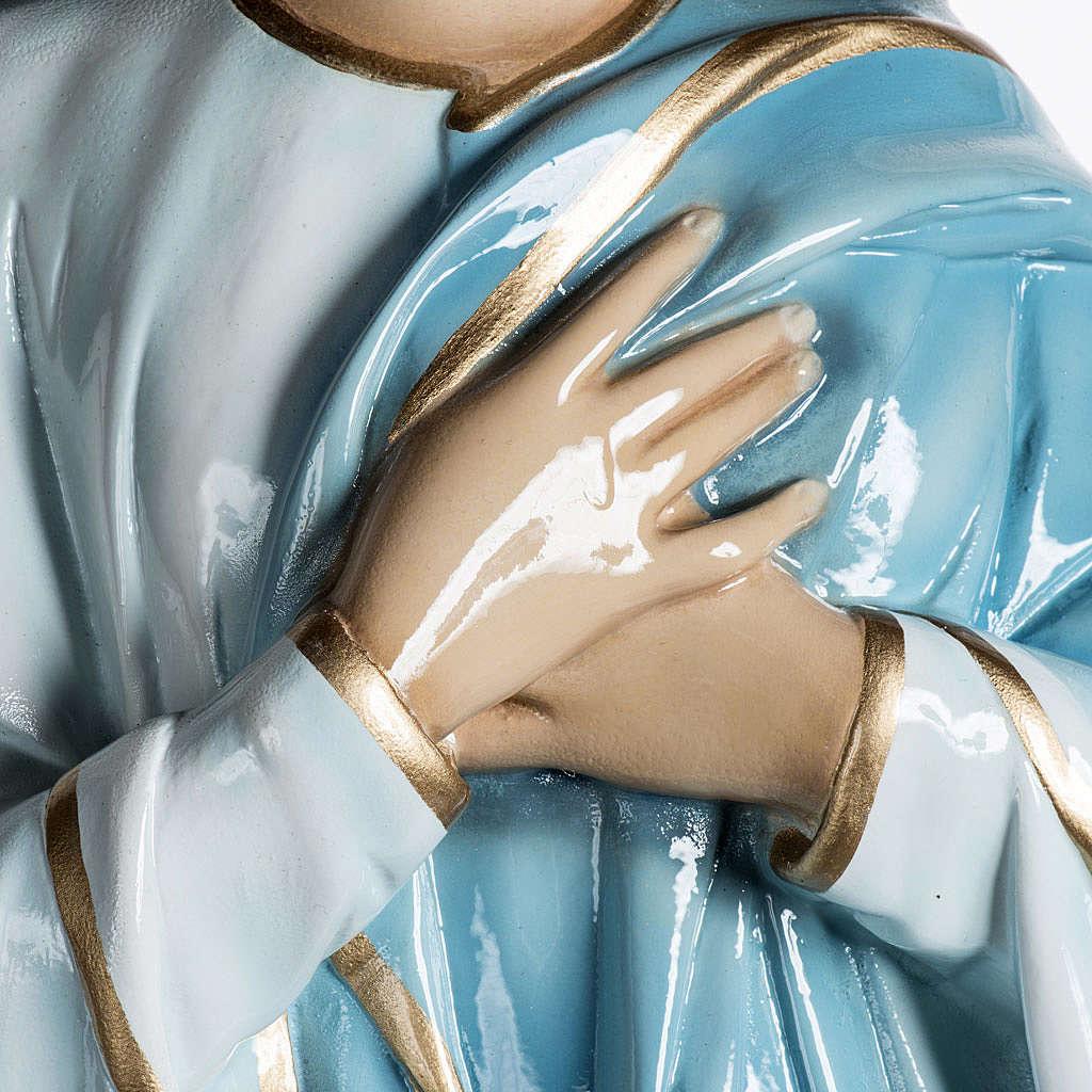 Beata Vergine Assunta 100 cm polvere di marmo dipinta 4