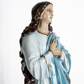 Beata Vergine Assunta 100 cm polvere di marmo dipinta s5