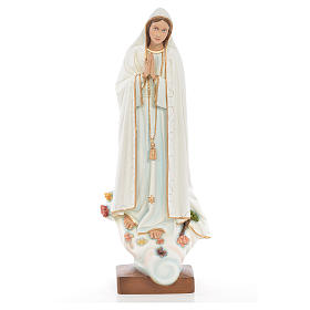 Our Lady of Fatima 60cm in painted reconstituted marble s1