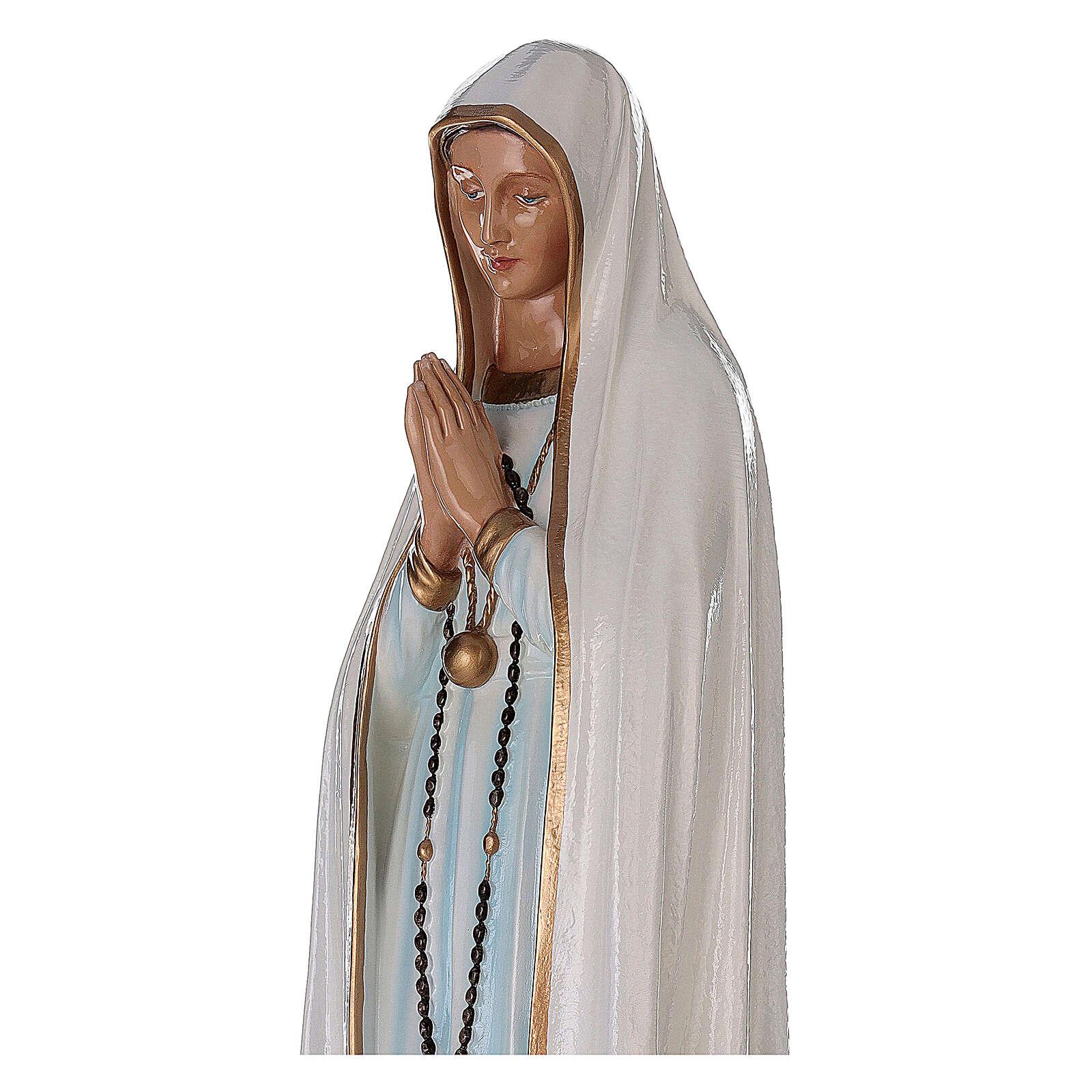 Madonna di Fatima 100 cm marmo sintetico dipinto 4