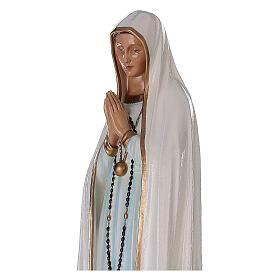 Madonna di Fatima 100 cm marmo sintetico dipinto s2