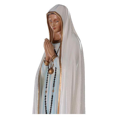 Madonna di Fatima 100 cm marmo sintetico dipinto 2