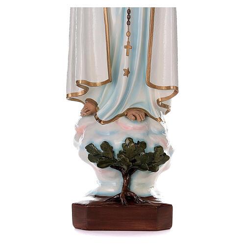 Madonna di Fatima 100 cm marmo sintetico dipinto 5