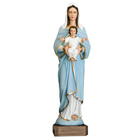 Madonna con bimbo 110 cm marmo sintetico dipinto s1