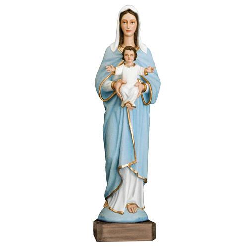 Madonna con bimbo 110 cm marmo sintetico dipinto 1