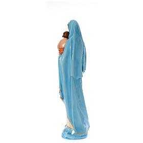 Imagen de la Virgen con el Niño de mármol sintético pintado 120 cm s3