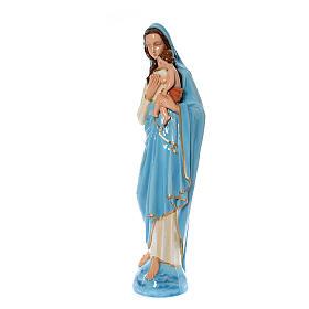 Madonna con bambino 120 cm marmo sintetico dipinto s2