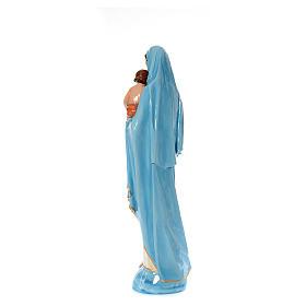 Madonna con bambino 120 cm marmo sintetico dipinto s3