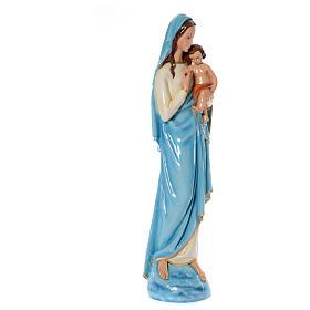 Madonna con bambino 120 cm marmo sintetico dipinto s4