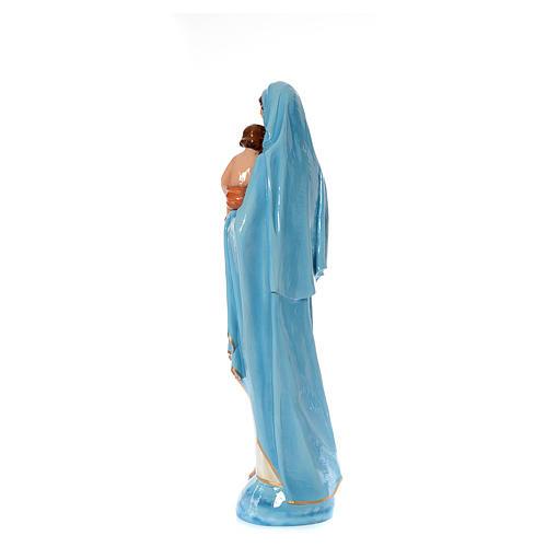 Madonna con bambino 120 cm marmo sintetico dipinto 3