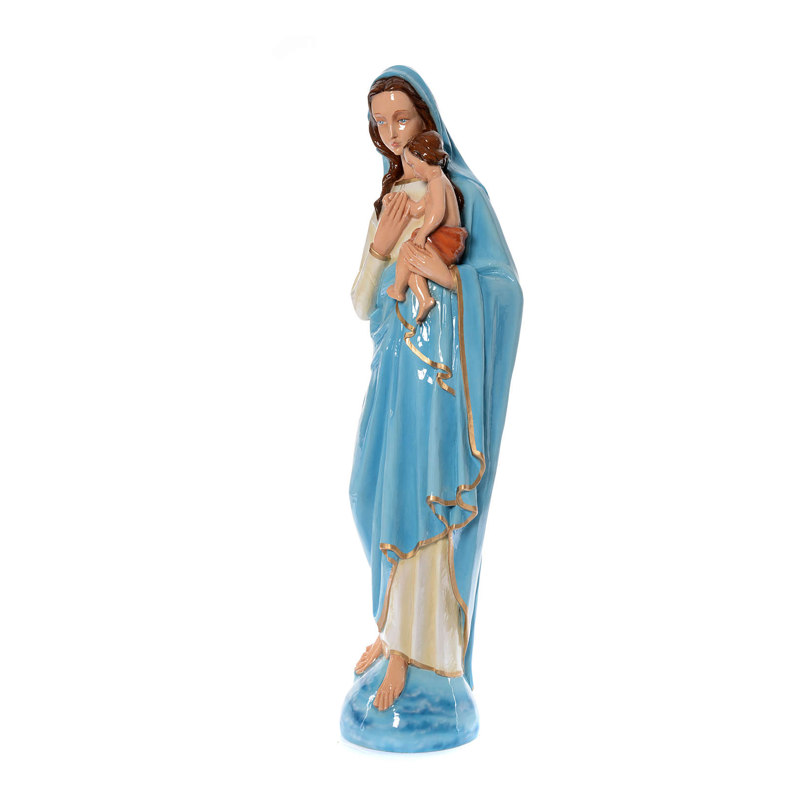 Virgin Mary with Baby statue 120cm in colored marble 4