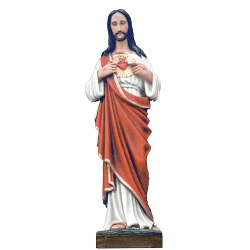 Sagrado Corazón de Jesús, 100 cm, polvo de mármol pintado 1