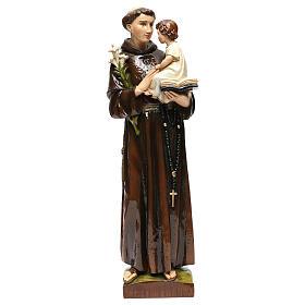 Estatua San Antonio de Padua 65 cm polvo de mármol pintado