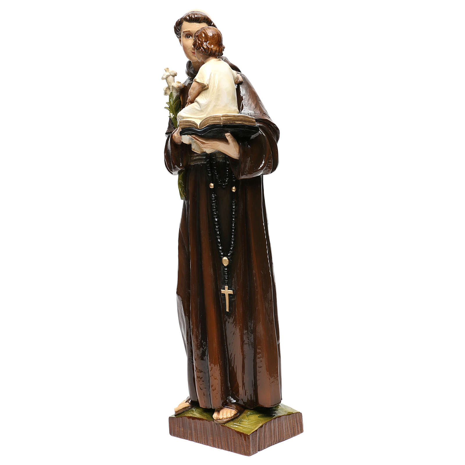 Sant'Antonio da Padova 65 cm polvere di marmo dipinta 4