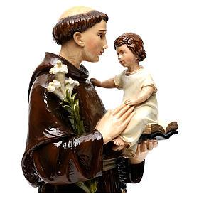 Sant'Antonio da Padova 65 cm polvere di marmo dipinta s2