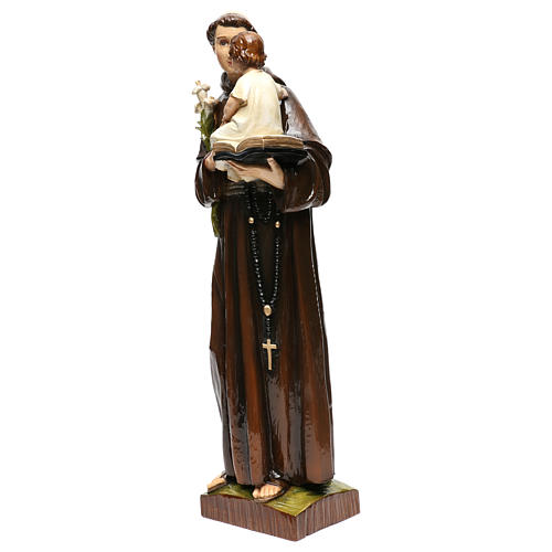 Sant'Antonio da Padova 65 cm polvere di marmo dipinta 3
