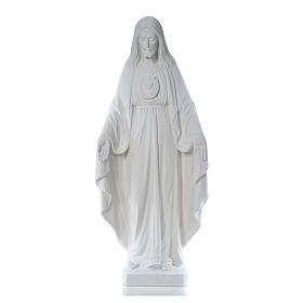 Imagens em Pó de Mármore de Carrara: Cristo Redentor 130 cm com coração mármore branco