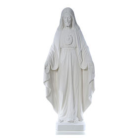 Christ the Redeemer, 130cm with heart, white marble s1