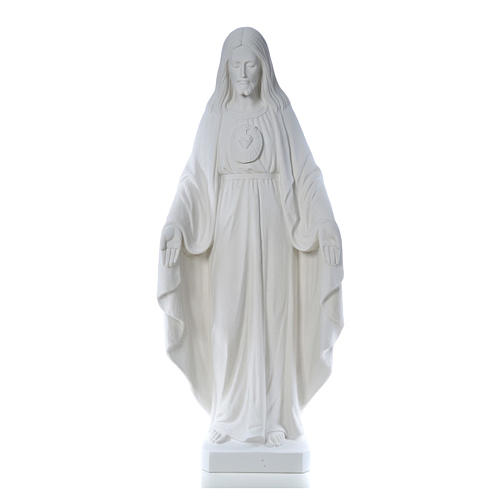 Christ the Redeemer, 130cm with heart, white marble 1