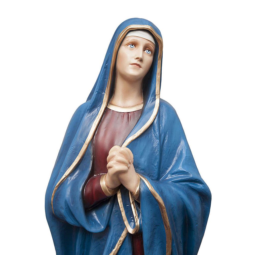 Madonna Addolorata 100 cm marmo sintetico colorato 4