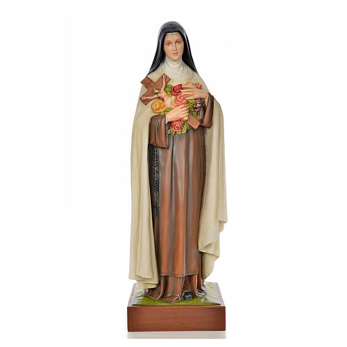 Saint Teresa statue 100cm in painted marble dust 1