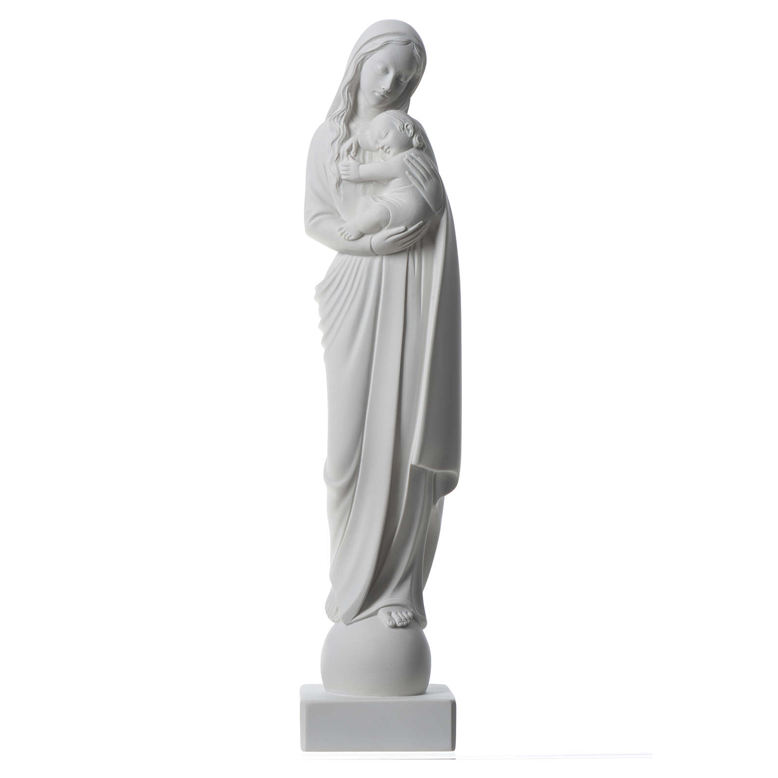 Our Lady with Baby Jesus 45 cm Carrara marble dust 4