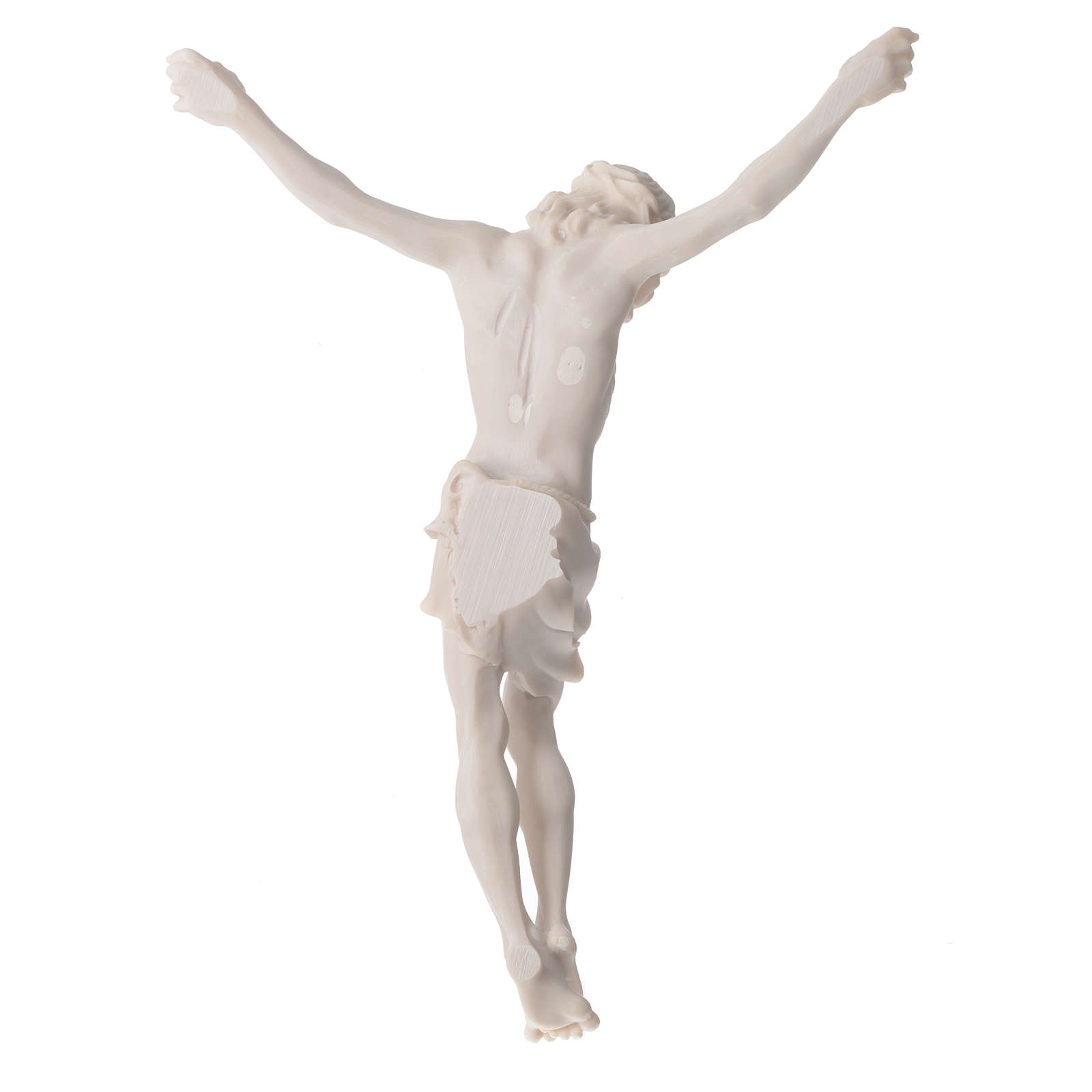 Christ's body 37 cm in marble dust finished in neutral white 4