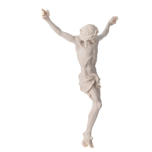 Christ's body 37 cm in marble dust finished in neutral white 2
