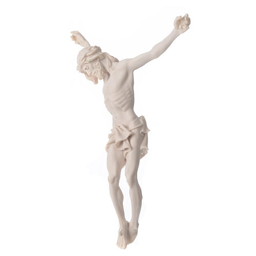 Christ's body 37 cm in marble dust finished in neutral white 3