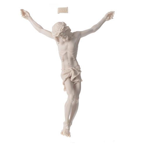 Cuerpo de Cristo 37 cm de polvo de mármol acabado blanco neutro 1