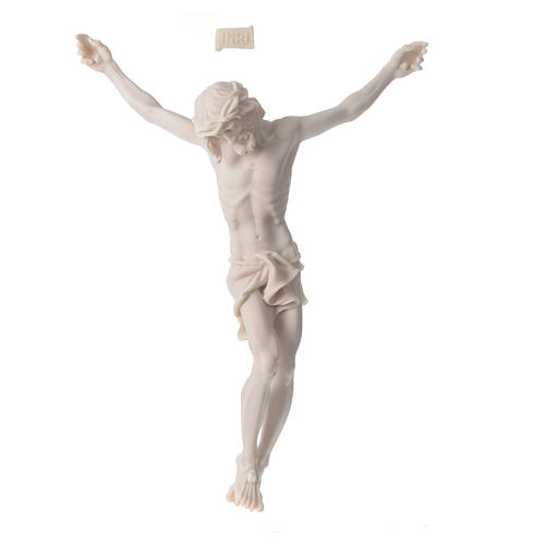 Christ's body 37 cm in marble dust finished in neutral white 1