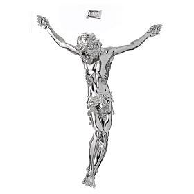 Imagens em Pó de Mármore de Carrara: Corpo de Cristo crucificado em pó de mármore acab. prata