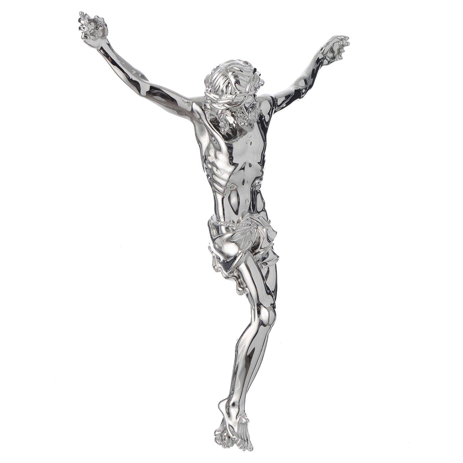 Christ's body crucified in marble dust finished in silver 4