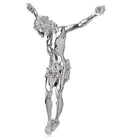 Christ's body crucified in marble dust finished in silver s2
