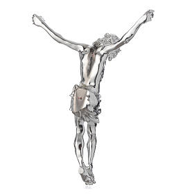 Christ's body crucified in marble dust finished in silver s4