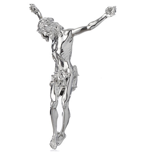 Christ's body crucified in marble dust finished in silver 2