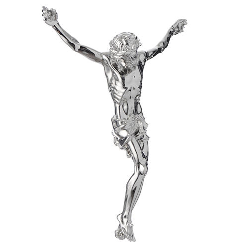 Christ's body crucified in marble dust finished in silver 3