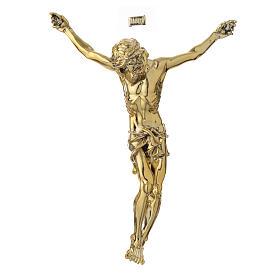 Imagens em Pó de Mármore de Carrara: Corpo de Cristo em pó de mármore acab. dourado