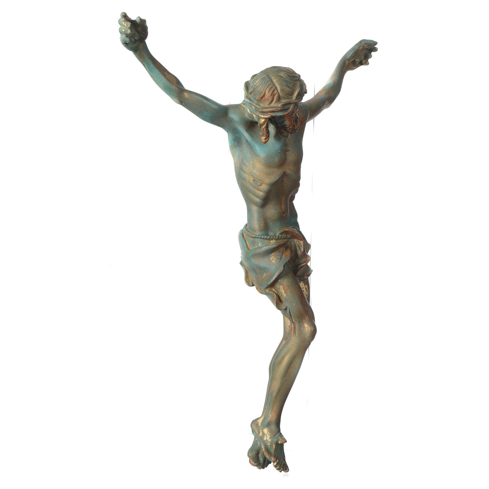 Christ's body marble dust finished in bronze 4